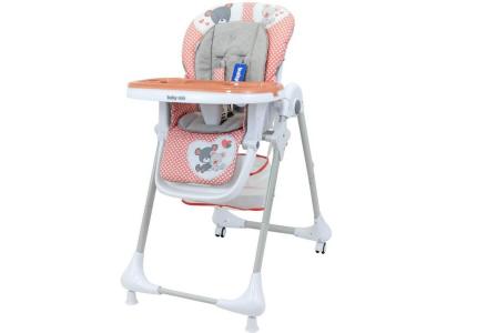 ALEXIS Krzesełko do karmienia INFANT różowy