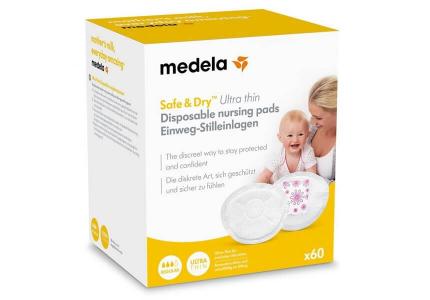 MEDELA Jednorazowe wkładki laktacyjne Safe&Dry Ultra Thin 60 szt.