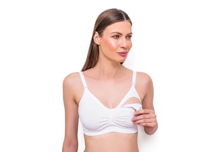 BabyOno Biustonosz dla kobiet w ciąży i karmiących piersią, biały, rozmiar 70-75 B