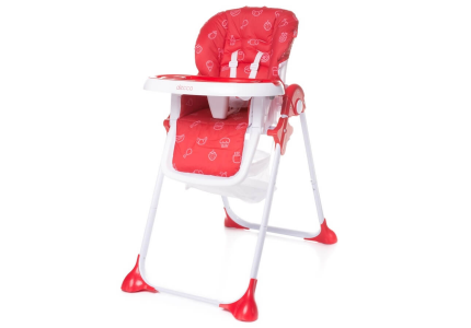 4Baby Krzesełko do karmienia DECCO czerwone