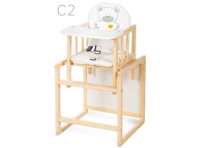 Drewniane krzesełko do karmienia AGA SOSNA