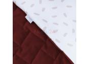 ALBERO MIO Kocyk z poduszką Velvet Kids czerwień tomato V108