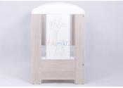 Łóżeczko ŻYRAFA - dąb santana op.bok 120x60 cm DREWEX