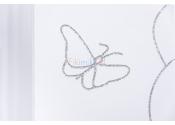 DREWEX Łóżeczko MAŁY MIŚ I MOTYLEK z opuszczanym bokiem 120x60 cm