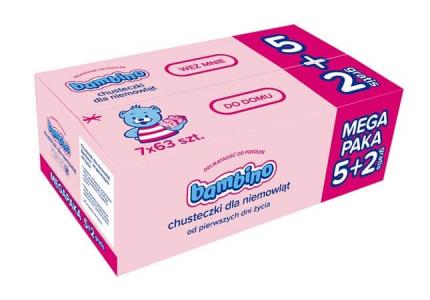 BAMBINO 83676 Chusteczki dla niemowląt 7-pak
