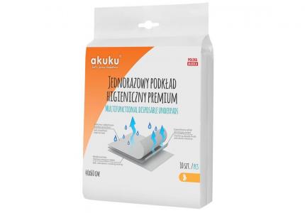 AKUKU Podkład jednorazowy higieniczny 40x60 PREMIUM 10 szt. A0367
