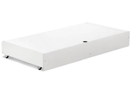 KLUPŚ Pojemnik na pościel biało szary 120x60 DALIA