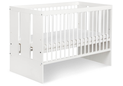 KLUPŚ Łóżeczko niemowlęce PAULA biała 120x60