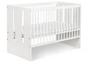 Biały zestaw mebli dziecięcych KLUPŚ PAULA BIAŁA szafa, łóżeczko, komoda