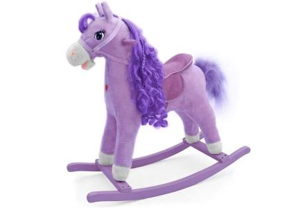 Koń na biegunach fioletowy PRINCESS MILLY MALLY