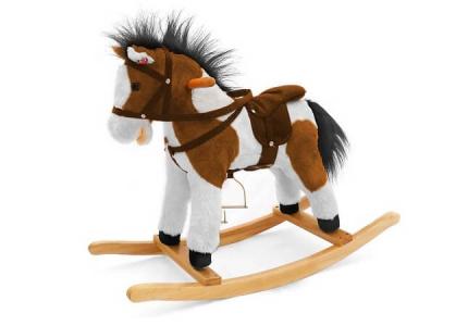 Koń na biegunach ciemno brązowy ŁATEKMILLY MALLY