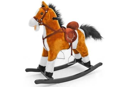 Koń na biegunach jasno brązowy MUSTANG MILLY MALLY