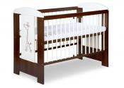 KLUPŚ Łóżeczko niemowlęce ŻYRAFA ecru-orzech 120x60