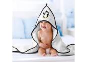 Okrycie kąpielowe 100x100 dla niemowlaka z kapturkiem AKUKU