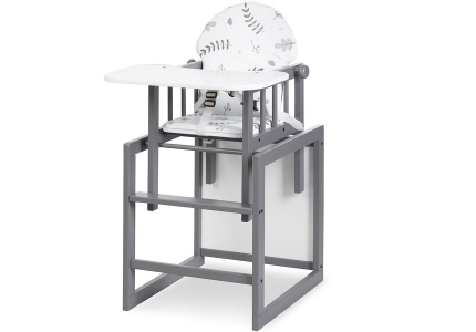 Krzesełko do karmienia wielofunkcyjne 2w1 LILY grafit