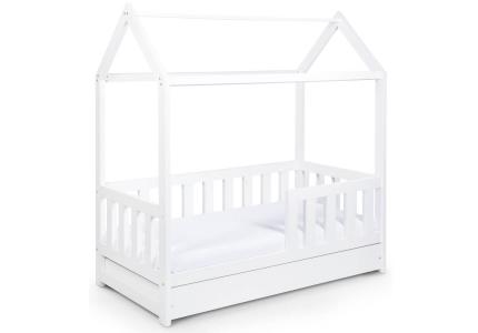 Łóżko Domek białę z szufladą z funkcją spania 160x80 KLUPŚ LittleSky