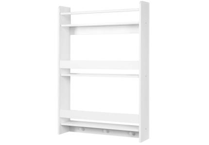 Biała półka wisząca do pokoju dziecięcego KLUPŚ