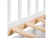 Białe łóżeczko z szufladą i barierką 120x60 TIMI KLUPŚ