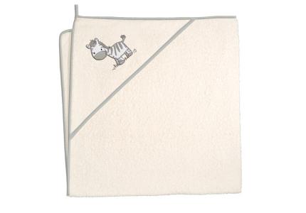 CebaBaby Ręcznik ZEBRA BEŻOWA 100x100 cm
