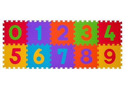B.O. Puzzle piankowe 10 szt. CYFRY