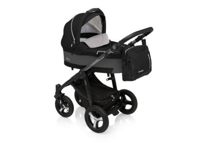 BABY DESIGN Wózek głęboko-spacerowy HUSKY 10 czarny