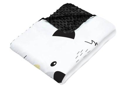ALBERO MIO kocyk minky z poduszką Wesoły Miś K084 S
