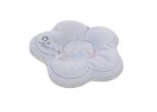 MATEX Poduszka dla niemowląt FLOR szara