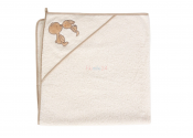 CEBA Ręcznik z kapturkiem NOSKI ECRU100x100 cm