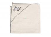 CEBA Ręcznik z kapturkiem OSIOŁEK ECRU 100x100 cm
