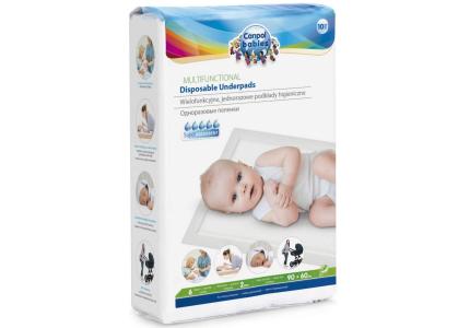 CANPOL Wielofunkcyjne jednorazowe podkłady higieniczne 10szt z naklejką 78/002