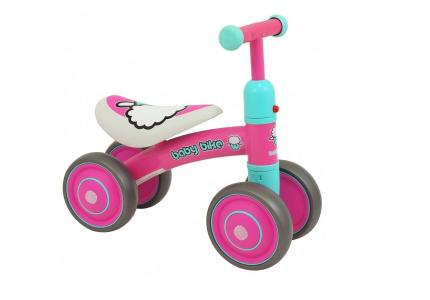ALEXIS Pojazd dla dzieci BABY BIKE różowy UR-ET-Z7
