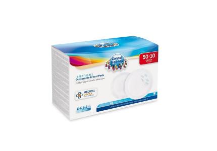 CANPOL Wkładki laktacyjne z paskiem samoprzylepnym 60szt - wyrób medyczny 1/652