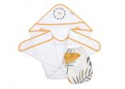 ALBERO MIO Okrycie kąpielowe z myjką muślinową TROPICS 100x100 cm N003