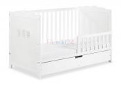 Zestaw MARSELL łóżeczko 140x70 z barierką i szufladą
