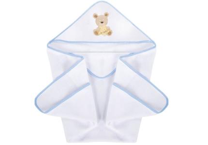ALBERO MIO Okrycie kąpielowe 100x100 Teddy niebieski K070