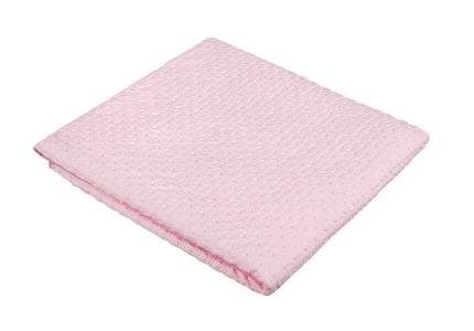 AKUKU Kocyk bawełniany 100% bawełna różowy A1803