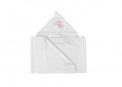 MATEX Okrycie kąpielowe MAXI JUNIOR 140x70 cm [TDKF140-01] biały