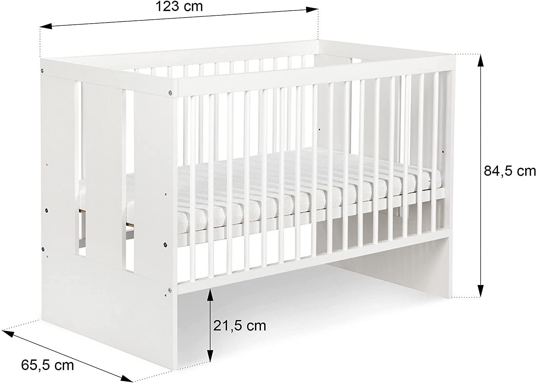 łóżeczko paula 120x60 białe